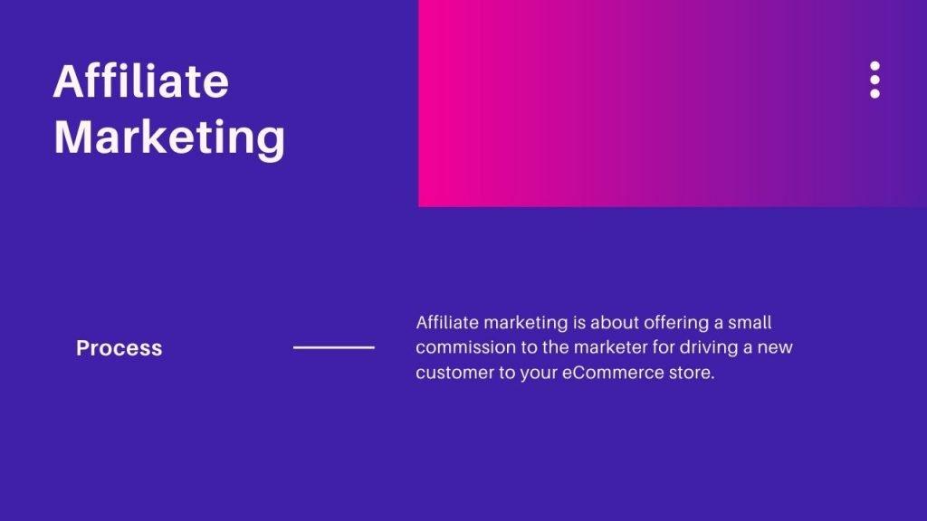 Affliate based ecommerce marketing