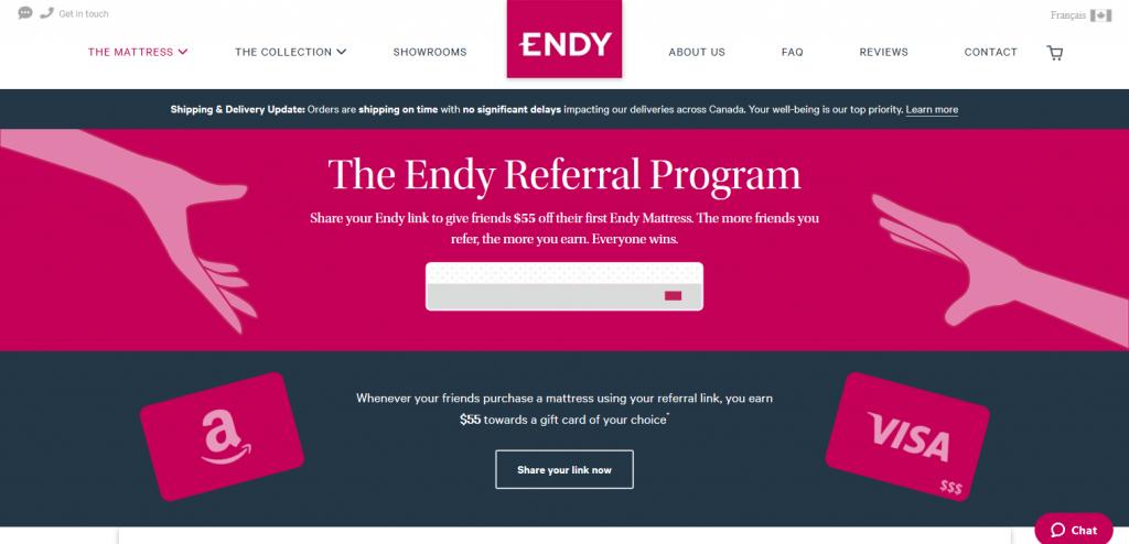 Endy referral marketing