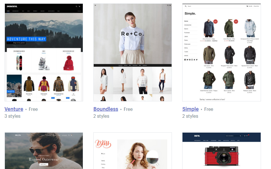 theme to start an online boutique