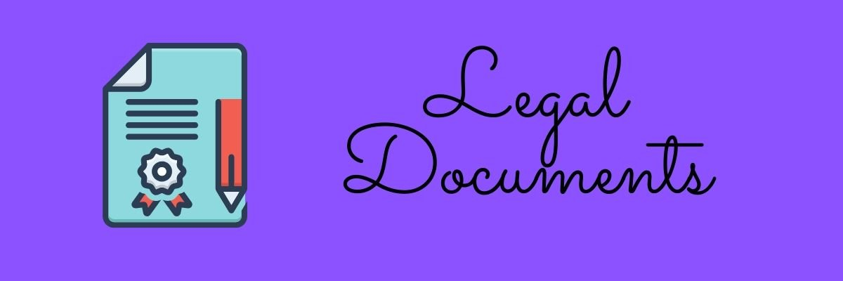lEGAL documents on how to start an online boutique