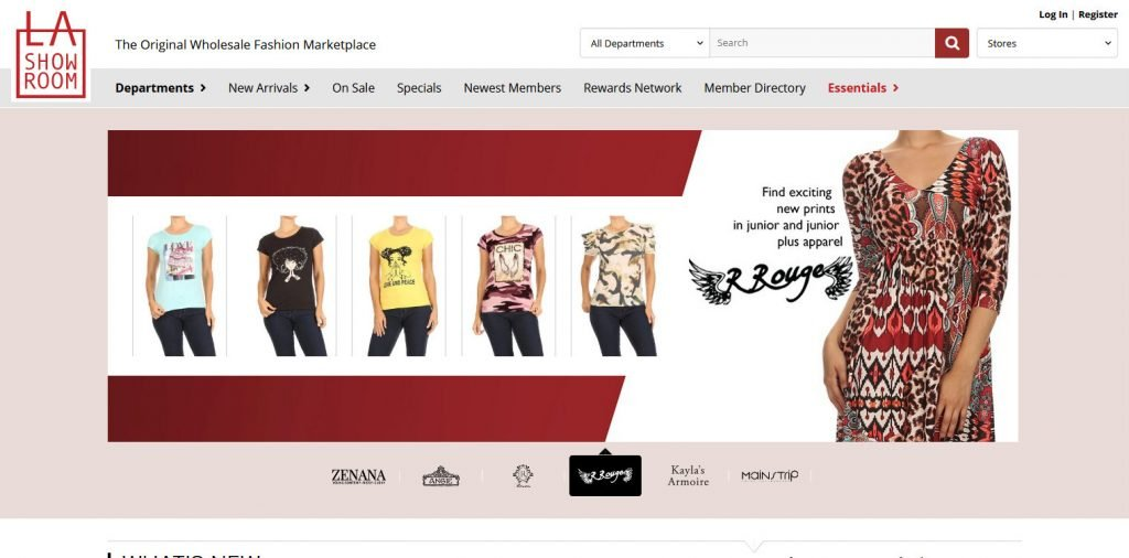Las howroom wholesale clothing supplier