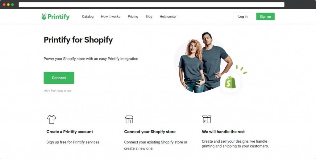 Printify shopify print on demand