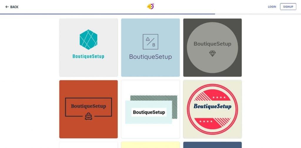 Hatchful online logo maker