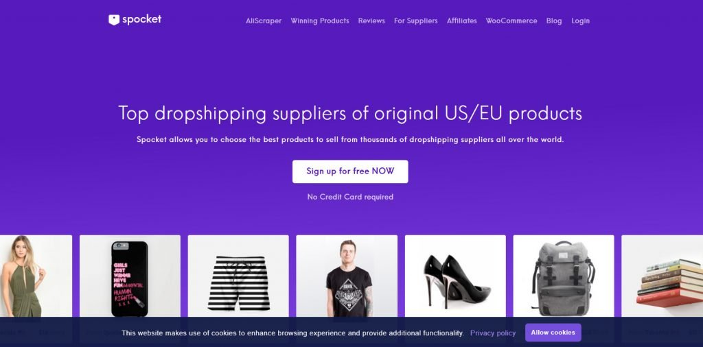 Spocket wholesale clothing vendors for dropshipping