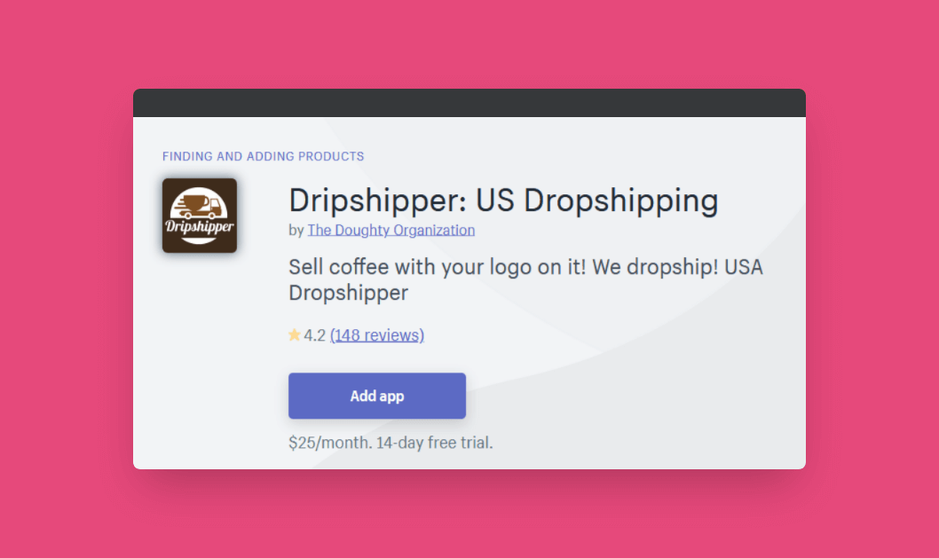 Driipshipper coffee dropshipping