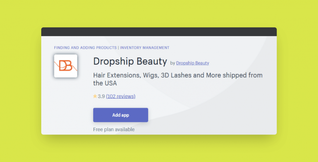 dropship beauty shopify