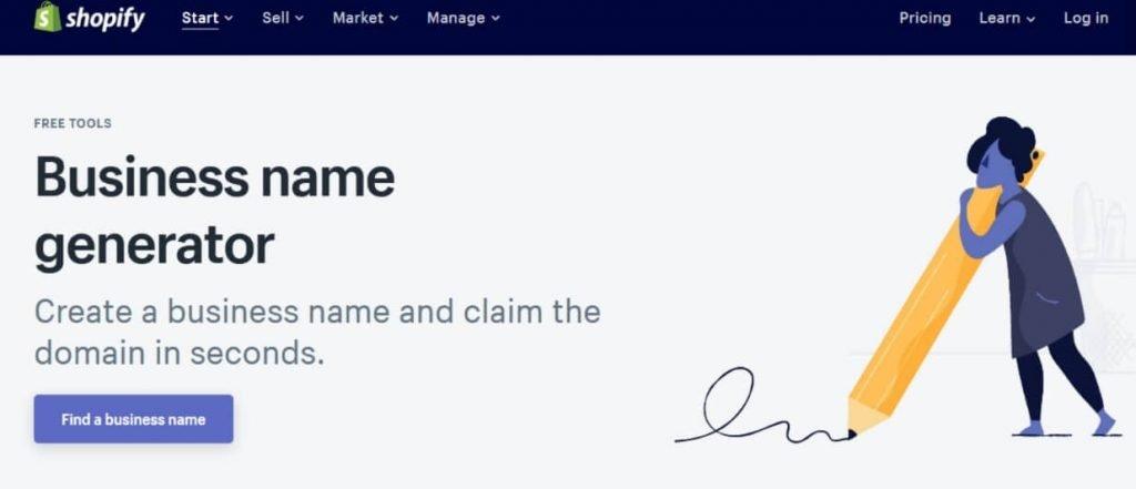 Shopify name generator tool