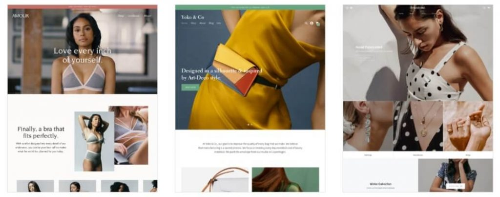 Shopify theme for starting an online boutique