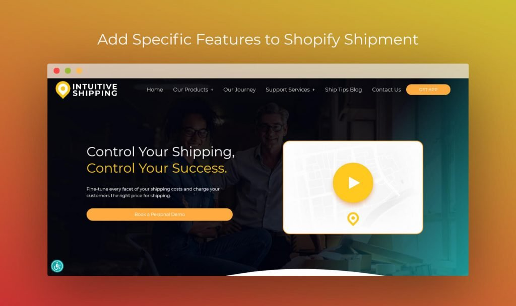 Intuitive shopify shipping app