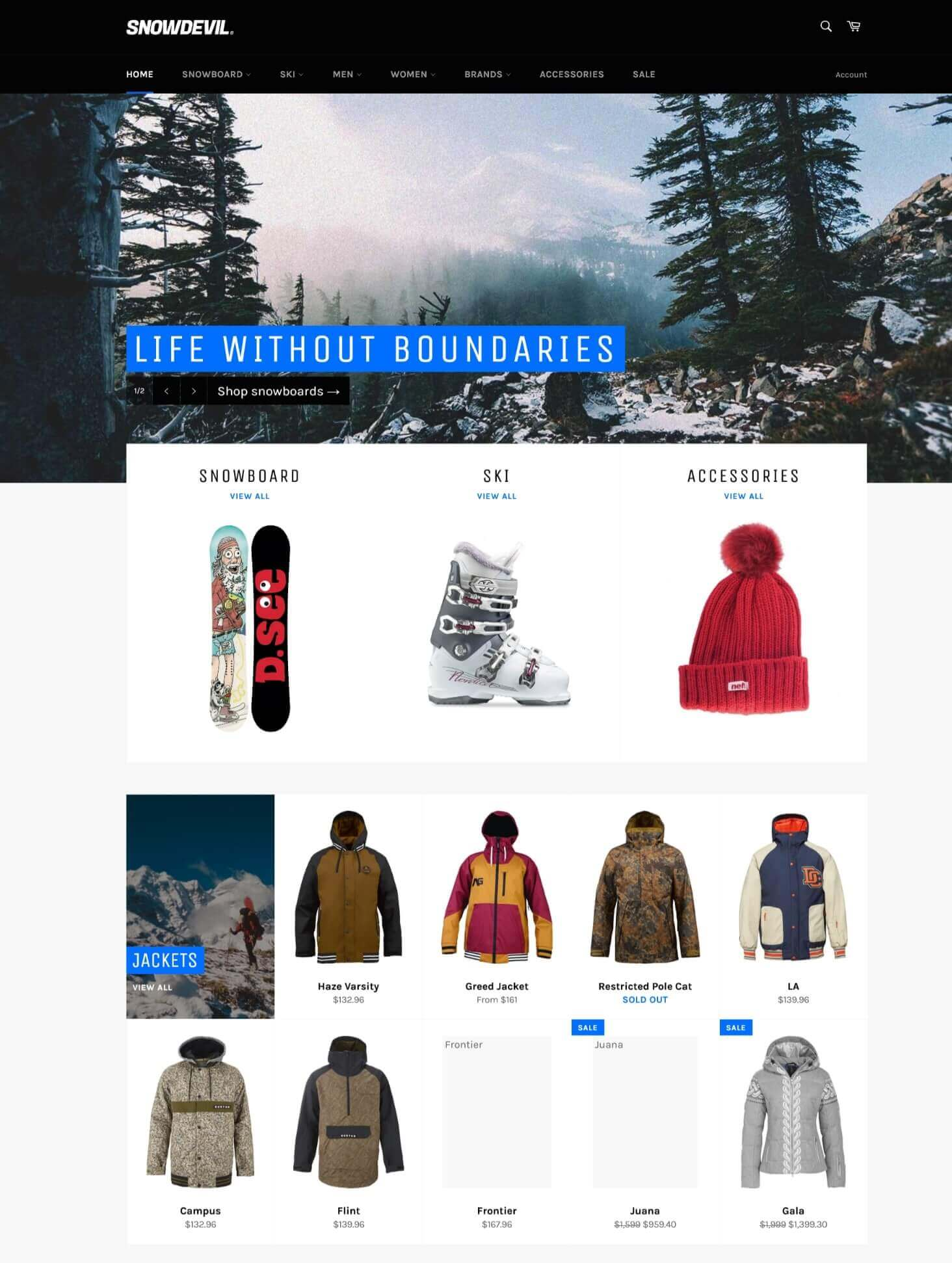 venture is what shopify theme is that