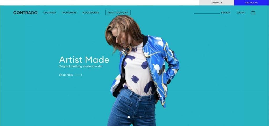 Contrado online clothing company