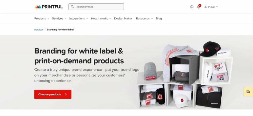 Printful white label dropshipping clothing