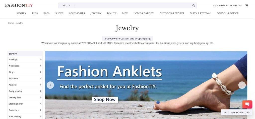 fashiontiy jewelry dropshipper