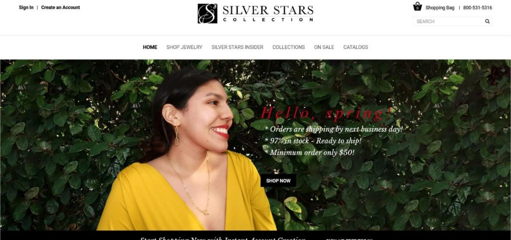silver stars wholesale jewelry supplier