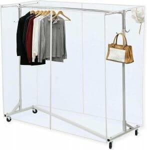 simple houseware clothing display racks