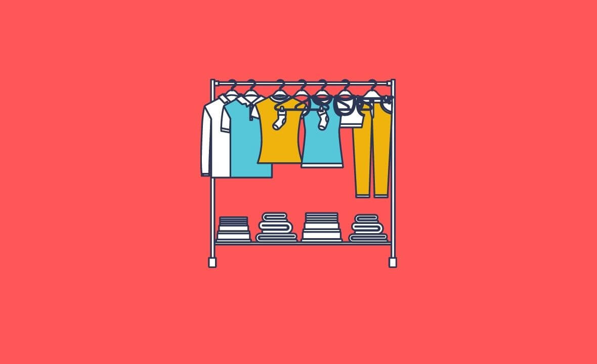 Boutique Clothing Rack Icon