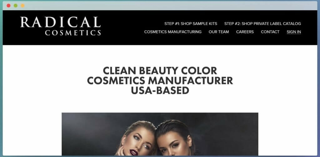 radical cosmetics white label